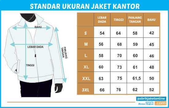 standarukuran jaket kantor